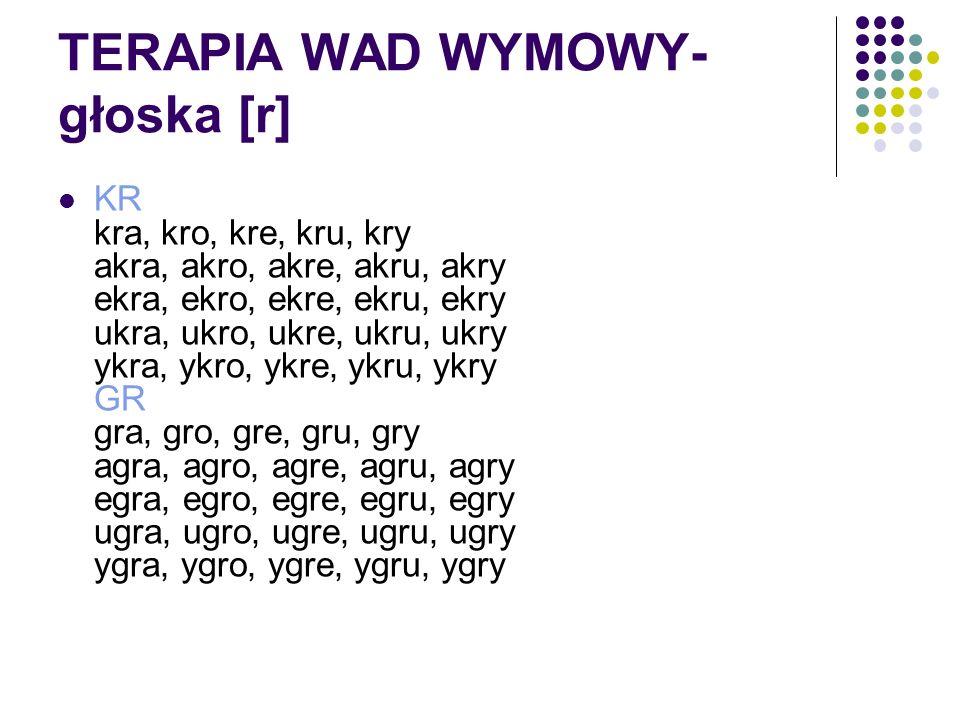 TERAPIA WAD WYMOWY- głoska [r]